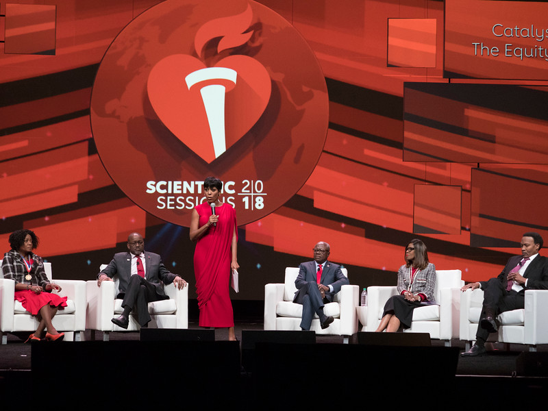 Tamron Hall and panelists during Conner Presidential Address