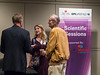 Attendees chat during Oral Abstract Presentations – Cardiovascular Biomarkers