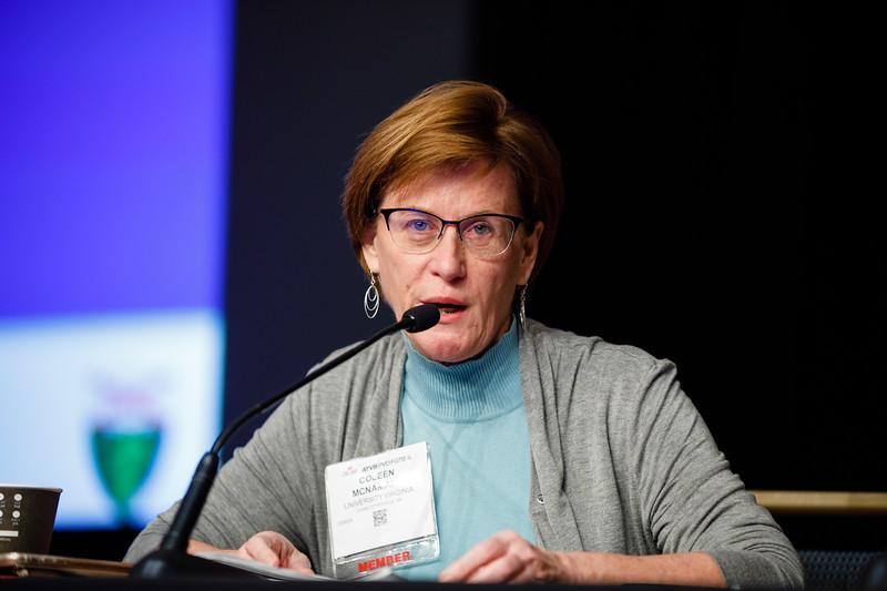 Coleen McNamara speaks during Plenary III