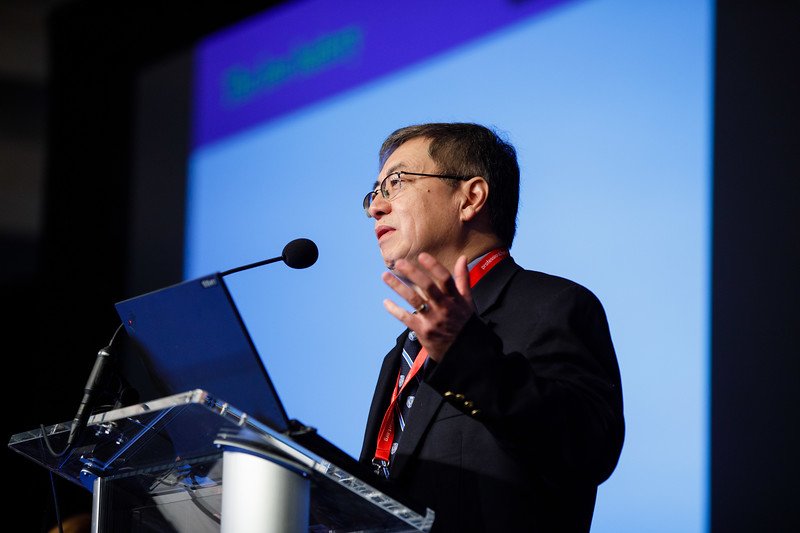 John Hwa, MD, PhD, FRACP, speaks during Plenary III