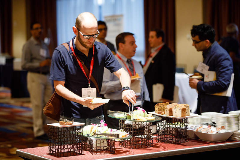 Attendees during Breakfast
