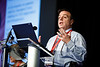 Stanley Hazen, MD, PhD, speaks during Plenary III