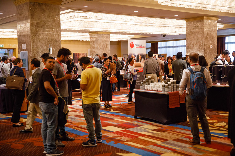 Attendees during coffee break
