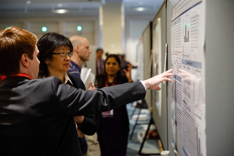 Attendees during Poster Session III