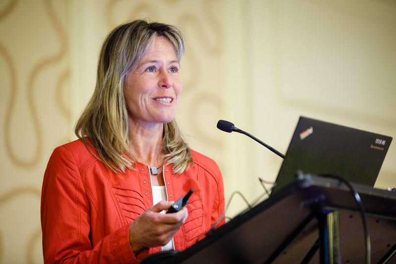 Stefanie Dimmeler, PhD, speaks during Plenary V - Invited Lecture Series