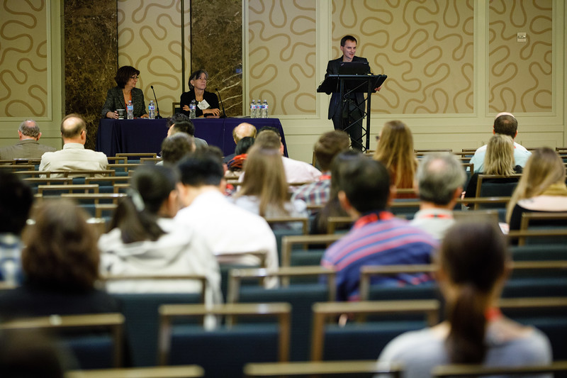 Muredach Reilly, MBBCH, MSCE, FAHA, speaks during Plenary V - Invited Lecture Series