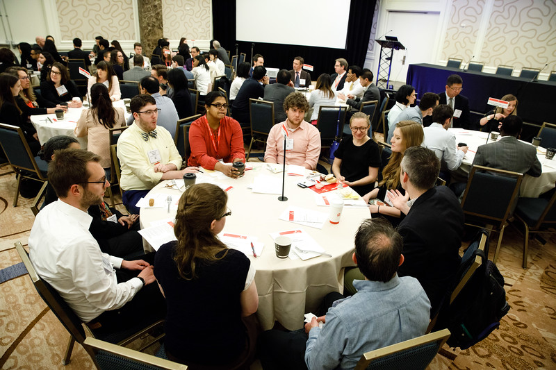 Mentors and attendees during Early Career Sessions