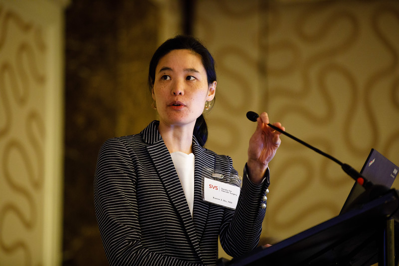 Karen Ho, MD, speaks during Special Session II: SVS Foundation Mentored Clinical Scientist Research Career Development Award