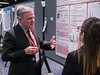 Attendees chat during Poster Session 1