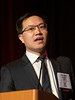 Wenbin Liang speaks during Concurrent Session 8A: Cardiac Arrhythmias: From Basic Mechanisms to Precision Medicine