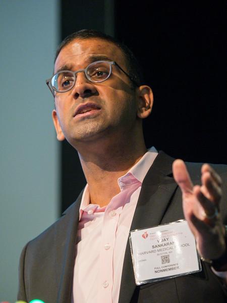 Vijay G Sankaran speaks during Plenary Session I: Innovative Methods in Vascular Discovery
