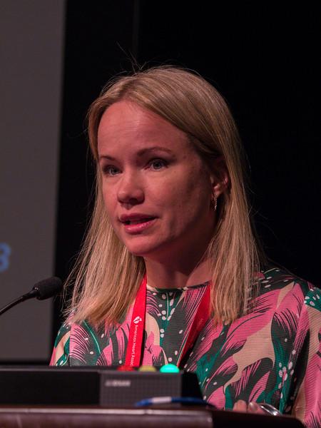 Emma Lundberg speaks during Plenary Session I: Innovative Methods in Vascular Discovery