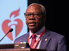 AHA President Ivor Benjamin speaks during Opening Session