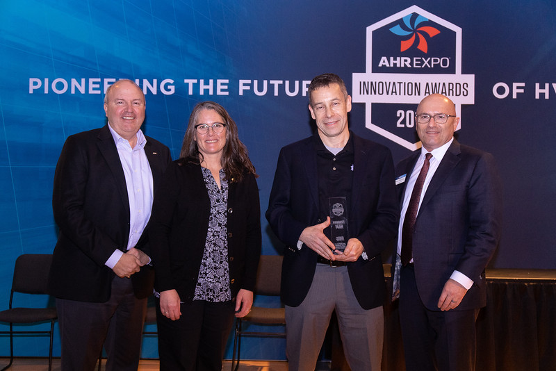 Udi Meirav receives the Product of the Year award on behalf of enVerid Systems