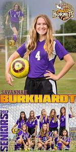 Savannah Burkhardt Soccer Banner