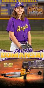 Jacob Domanski Baseball Banner