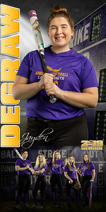 Jayden DeGraw Softball Banner