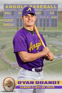 Ryan Brandt Baseball Card 2020