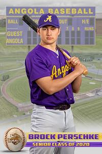 Brock Perschke Baseball Card 2020