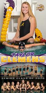Swim Banner Taylor Clemens