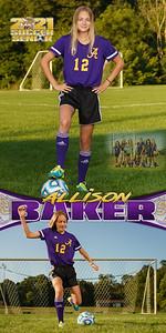 Soccer Allison Baker Banner
