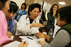 Participants are seen receiving consultation at the Korean Health Festival held at Holy Name Medical Center in Teaneck. 9/282013  photo by Jerry McCrea