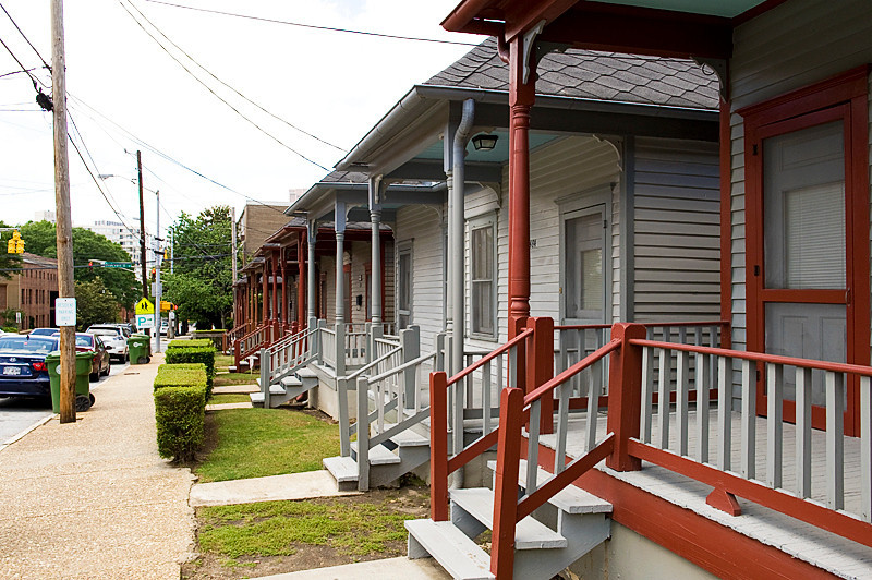 The Shotgun Houses, Auburn Avenue, Martin Luther King National Historic Site, built by the Empire Textile Company