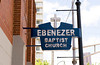The Ebenezer Baptist Church where both Reverend Dr. Martin Luther King Jr. and his father pastored