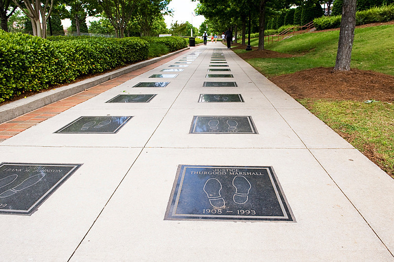 Along the International Civil Rights Walk of Fame at the Martin Luther King Jr. National Historic Site