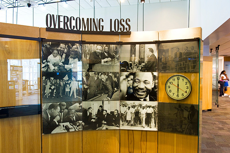 Inside the Visitor's Center exhibit area at the Martin Luther King National Historic Site