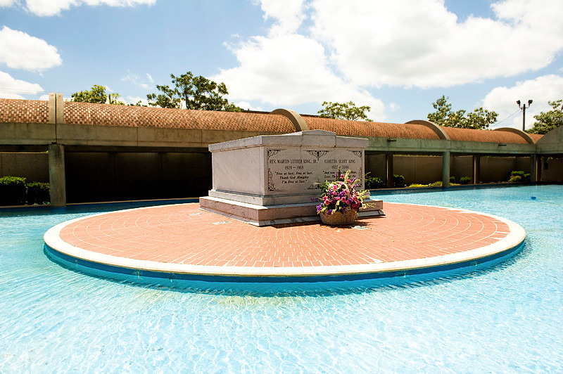 The Tomb of Martin Luther King Jr. and Coretta Scott King at the King Center, at the Martin Luther King National Historic Site