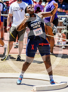 Arizona AIA State Track and Field Championships 2018 (High School) Girls field Shot put
