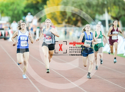 Arizona AIA State Track and Field Championship 2018 (High School) Preliminaries Girls Running 200 meter dash