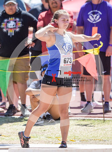 Arizona AIA State Track and Field Championship 2018 (High School) Preliminaries Girls Field Shotput