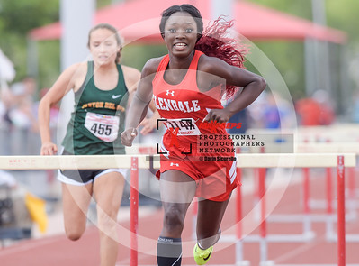 Arizona AIA State Track and Field Championship 2018 (High School) Preliminaries Girls Field Running Hurdles