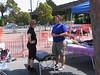 JB (after 40 mile ride) & Aundi talking in parking lot of Sports Basement.