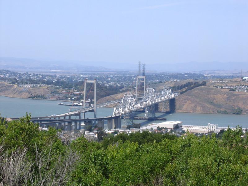 Carquinez bridge from Martinez.