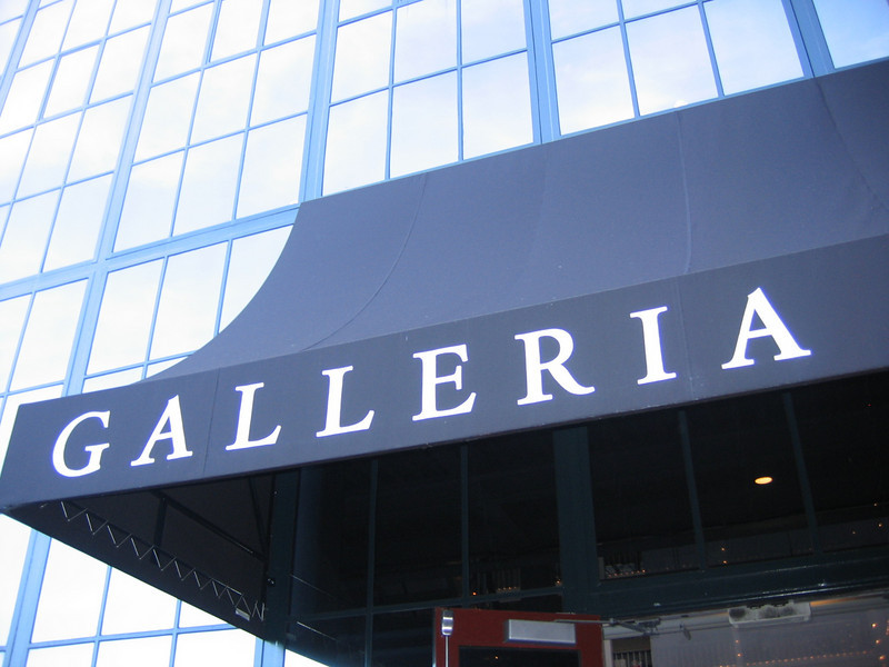 Rear entrance to the Galleria