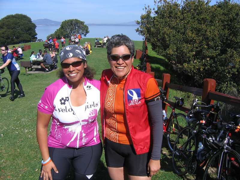 Me and fellow ALC Rider and Velo Girl Sandy.
