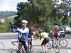Ride Leader Valdez Hill taking pictures during a break.