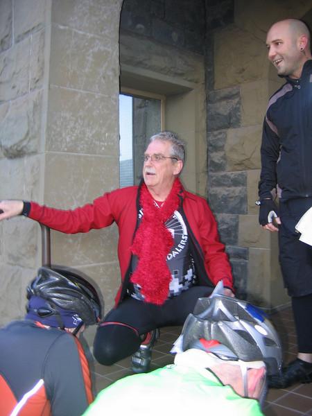 Ride Leader Beau welcoming riders.