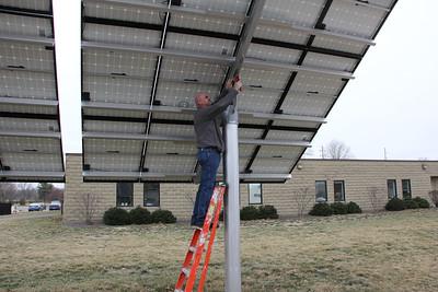 Solar panel adjustment