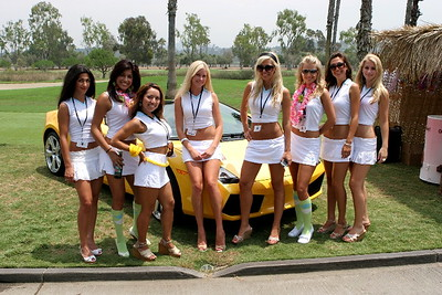 Girls of Golf at Luxury Toy Club Hole