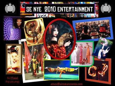 Amey Hoey of Aimstar Events & Se San Diego Hotel presents Se 2010 New Years Eve Party - A Night in Tokyo - a Five Star New Years Eve Celebration.