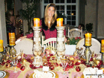 My Formal Dining Table at Christmas Time. I love decorating my home for every holiday!