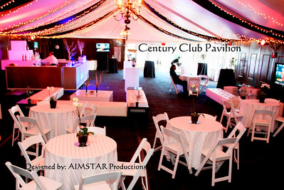 "The Century Club Pavilion - The Buick Invitational 2009. Torrey Pines Golf Course, La Jolla, Ca. A special thanks to Nannette Woods of Nannette's Designs - my creative assistant on this job- for your round-the-clock help in transforming this ""dreary dark tent"" into a ""dazzling hip-happening"" Party Pavilion."