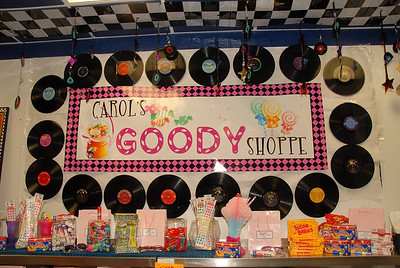 Carols' 50's Themed Goody Shoppe. I love this theme. It's so colorful & fun!! Thanks Bronwyn for your graphics help with Carol's sign.