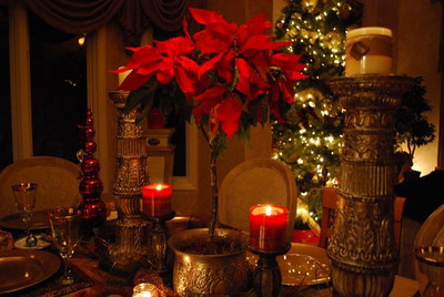 My Formal Dining Room Table - Christmas Eve 2009
