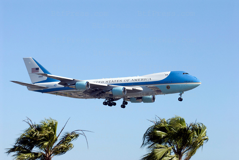 Air Force One lands in LAX today. President Obama is expected to raise nearly $3.5 million in Los Angeles on Monday evening, appearing at events honoring California Sen. Barbara Boxer, who is facing at a tough reelection battle this year.