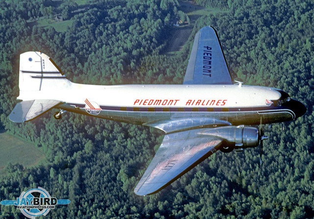 This was my one and only air-to-air photo of the Piedmont DC-3, back in 1987 when Piedmont was still Piedmont.